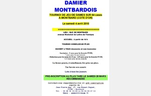 Tournoi 64 cases - Montbard (21)- 4 avril
