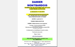 Tournoi 144 cases Montbard